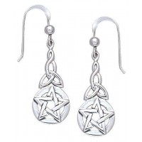Triquetra Pentacle Earrings in Sterling Silver