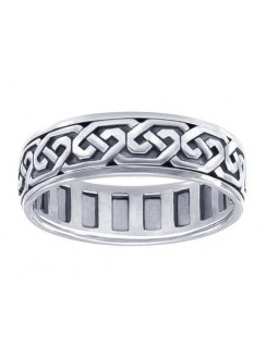 Celtic Knot Solid Sterling Silver Fidget  Spinner Ring Gothic Plus Gothic Clothing, Jewelry, Goth Shoes & Boots & Home Decor