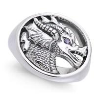 King Arthur Pendragon Seal Amethyst Ring