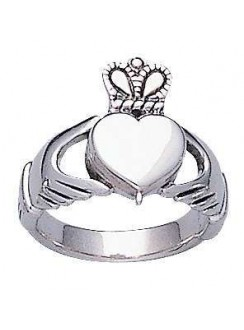 Celtic Claddagh Silver Poison Ring Gothic Plus Gothic Clothing, Jewelry, Goth Shoes & Boots & Home Decor