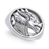 King Arthur Pendragon Seal Rainbow Moonstone Ring