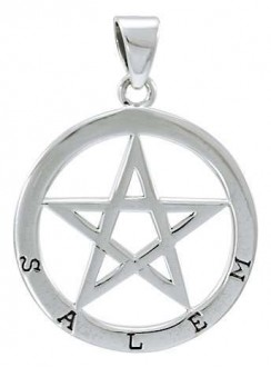 Salem Witch Pentagram Sterling Silver Pendant Gothic Plus Gothic Clothing, Jewelry, Goth Shoes & Boots & Home Decor