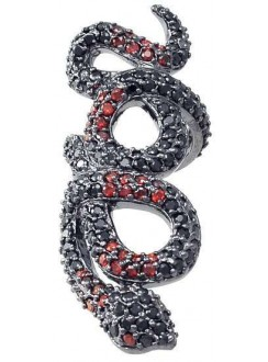 Snake Ring in Red and Black Gothic Plus Gothic Clothing, Jewelry, Goth Shoes & Boots & Home Decor