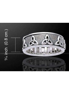 Triquetra Celtic Knot Sterling Silver Fidget Spinner Ring Gothic Plus Gothic Clothing, Jewelry, Goth Shoes & Boots & Home Decor