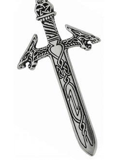 Rune Masters Magical Sword Pewter Necklace Gothic Plus Gothic Clothing, Jewelry, Goth Shoes & Boots & Home Decor