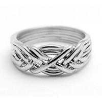 6 Band Light Turkish Puzzle Ring