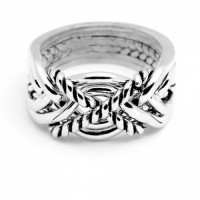 6 Band Turkish Twist Heavy Puzzle Ring