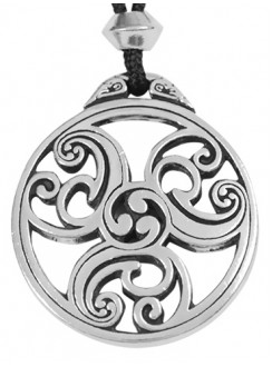 Celtic Triscele Spiral Pewter Necklace Gothic Plus Gothic Clothing, Jewelry, Goth Shoes & Boots & Home Decor
