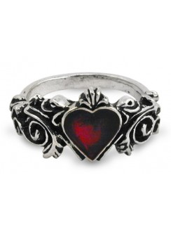 Betrothal Gothic Heart Pewter Ring Gothic Plus Gothic Clothing, Jewelry, Goth Shoes & Boots & Home Decor