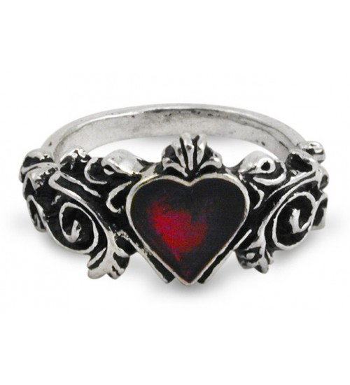 Betrothal Gothic Heart Pewter Ring at Gothic Plus,  Gothic Clothing, Jewelry, Goth Shoes, Boots & Home Decor