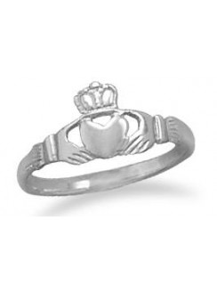 Claddagh Small Sterling Silver Ring Gothic Plus Gothic Clothing, Jewelry, Goth Shoes & Boots & Home Decor