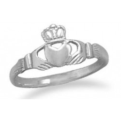 Claddagh Small Sterling Silver Ring