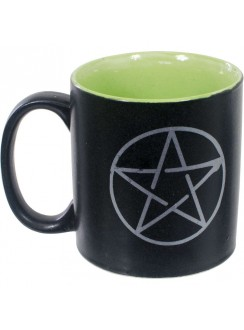 Pentacle Ceramic Mug Gothic Plus Gothic Clothing, Jewelry, Goth Shoes & Boots & Home Decor