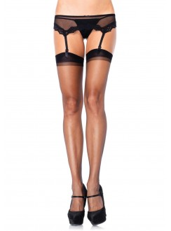 Black Spandex Ultra Sheer Garter Stockings - Pack of 3 Gothic Plus Gothic Clothing, Jewelry, Goth Shoes & Boots & Home Decor