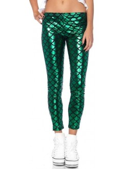 Mermaid Green Scale Leggings Gothic Plus Gothic Clothing, Jewelry, Goth Shoes & Boots & Home Decor