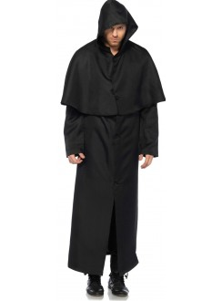 Hooded Button Front Coat Gothic Plus Gothic Clothing, Jewelry, Goth Shoes & Boots & Home Decor