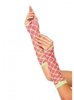 Duel Net Neon Arm Warmers Gothic Plus Gothic Clothing, Jewelry, Goth Shoes & Boots & Home Decor