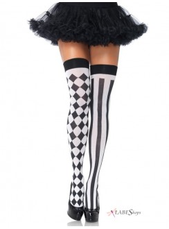 Harlequin Thigh Highs Pack of 3 Gothic Plus Gothic Clothing, Jewelry, Goth Shoes & Boots & Home Decor