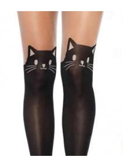 Adorable Black Kitty Cat Pantyhose 3 Pack Gothic Plus Gothic Clothing, Jewelry, Goth Shoes & Boots & Home Decor