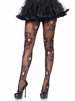 Sugar Skull Gothic Pantyhose - Pack of 3 Gothic Plus Gothic Clothing, Jewelry, Goth Shoes & Boots & Home Decor
