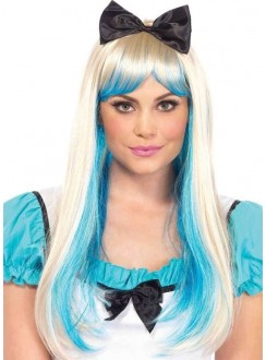 Alice Costume Wig with Bow Gothic Plus Gothic Clothing, Jewelry, Goth Shoes & Boots & Home Decor