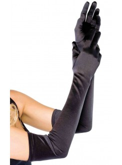 Satin Extra Long Black Opera Gloves Gothic Plus Gothic Clothing, Jewelry, Goth Shoes & Boots & Home Decor