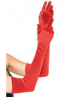 Red Satin Extra Long Opera Gloves Gothic Plus Gothic Clothing, Jewelry, Goth Shoes & Boots & Home Decor