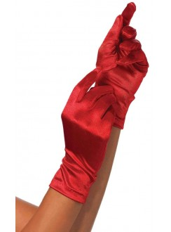 Red Wrist Length Satin Gloves Gothic Plus Gothic Clothing, Jewelry, Goth Shoes & Boots & Home Decor