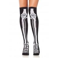Skeleton Over the Knee Socks