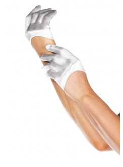 Cropped Satin White Half Glove Gothic Plus Gothic Clothing, Jewelry, Goth Shoes & Boots & Home Decor