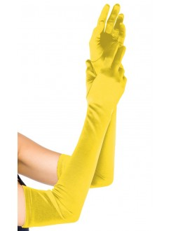 Yellow Satin Extra Long Opera Gloves Gothic Plus Gothic Clothing, Jewelry, Goth Shoes & Boots & Home Decor