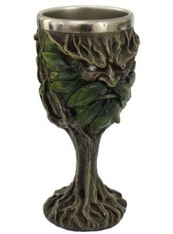 Greenman, Lord of the Forest Wiccan Altar Chalice Gothic Plus Gothic Clothing, Jewelry, Goth Shoes & Boots & Home Decor
