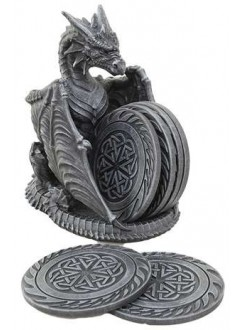 Dragon Celtic Knot Coaster Set Gothic Plus Gothic Clothing, Jewelry, Goth Shoes & Boots & Home Decor