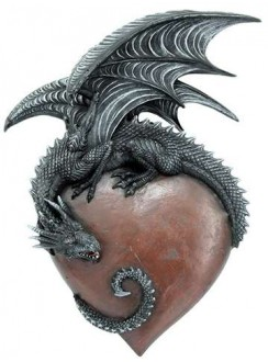 Dragon Heart Gothic Wall Hanging Gothic Plus Gothic Clothing, Jewelry, Goth Shoes & Boots & Home Decor