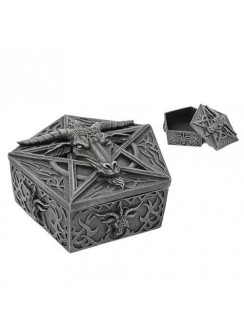Baphomet Horned God Goat Trinket Box Gothic Plus Gothic Clothing, Jewelry, Goth Shoes & Boots & Home Decor