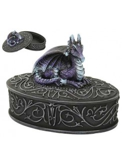 Purple Dragon Trinket Box Gothic Plus Gothic Clothing, Jewelry, Goth Shoes & Boots & Home Decor
