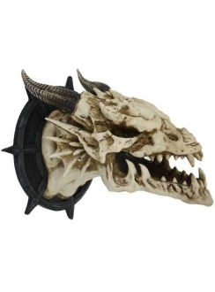 Dragon Skull Wall Plaque Gothic Plus Gothic Clothing, Jewelry, Goth Shoes & Boots & Home Decor