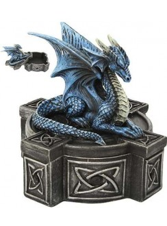 Celtic Cross Dragon Trinket Box Gothic Plus Gothic Clothing, Jewelry, Goth Shoes & Boots & Home Decor