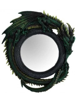 Green Dragon Wall Mirror Gothic Plus Gothic Clothing, Jewelry, Goth Shoes & Boots & Home Decor