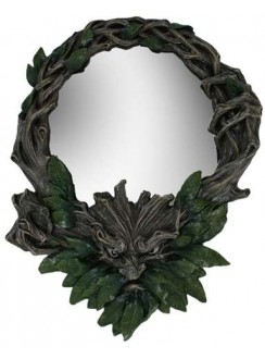 Greenman Wall Mirror Gothic Plus Gothic Clothing, Jewelry, Goth Shoes & Boots & Home Decor