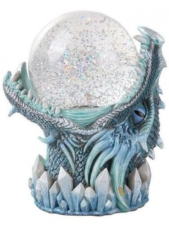 Frost Dragon Head Storm Ball Statue Gothic Plus Gothic Clothing, Jewelry, Goth Shoes & Boots & Home Decor
