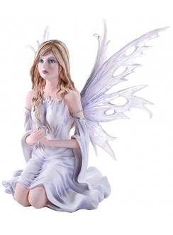Winter Fairy Statue Gothic Plus Gothic Clothing, Jewelry, Goth Shoes & Boots & Home Decor