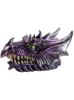 Purple Dragon Head Box Gothic Plus Gothic Clothing, Jewelry, Goth Shoes & Boots & Home Decor