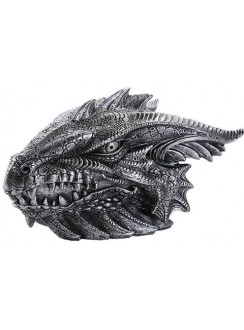 Gray Dragon Head Box Gothic Plus Gothic Clothing, Jewelry, Goth Shoes & Boots & Home Decor