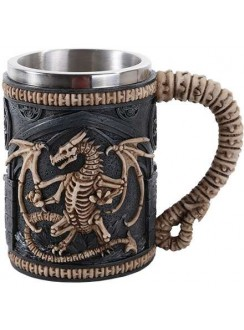 Skeleton Dragon Drinking Tankard Gothic Plus Gothic Clothing, Jewelry, Goth Shoes & Boots & Home Decor