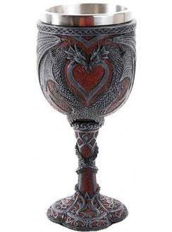 Double Dragon Goblet Gothic Plus Gothic Clothing, Jewelry, Goth Shoes & Boots & Home Decor