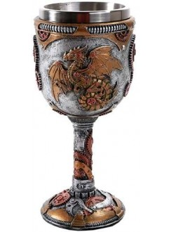 Steampunk Dragon Goblet Gothic Plus Gothic Clothing, Jewelry, Goth Shoes & Boots & Home Decor