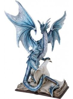 Dragon Spell Fantasy Art Statue Gothic Plus Gothic Clothing, Jewelry, Goth Shoes & Boots & Home Decor