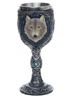 Wolf Spirit Wine Goblet Gothic Plus Gothic Clothing, Jewelry, Goth Shoes & Boots & Home Decor