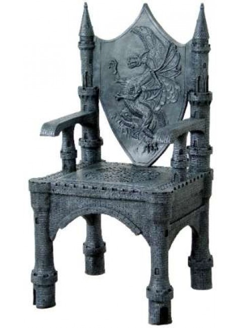 Dragon Throne Medieval Accent Chair at Gothic Plus, Gothic Clothing, Jewelry, Goth Shoes & Boots & Home Decor